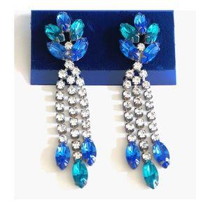 Gorgeous Vintage rhinestone dangle earrings